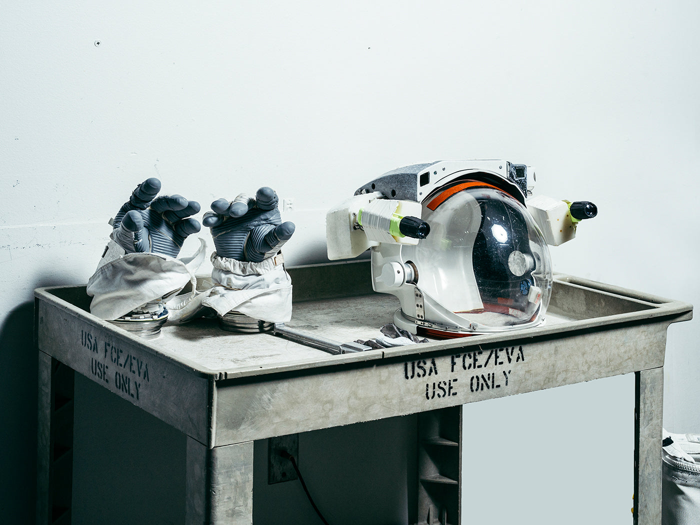 Astronaut equipment at NASA. Photo by Mattia Blasamini