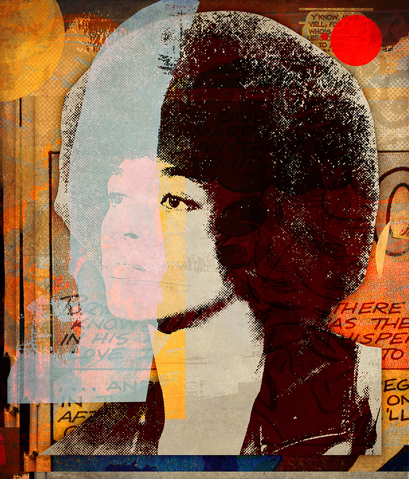 Angela Davis (with pink) by Peter Horvath 76.2 × 91.4 cm, 2018.
