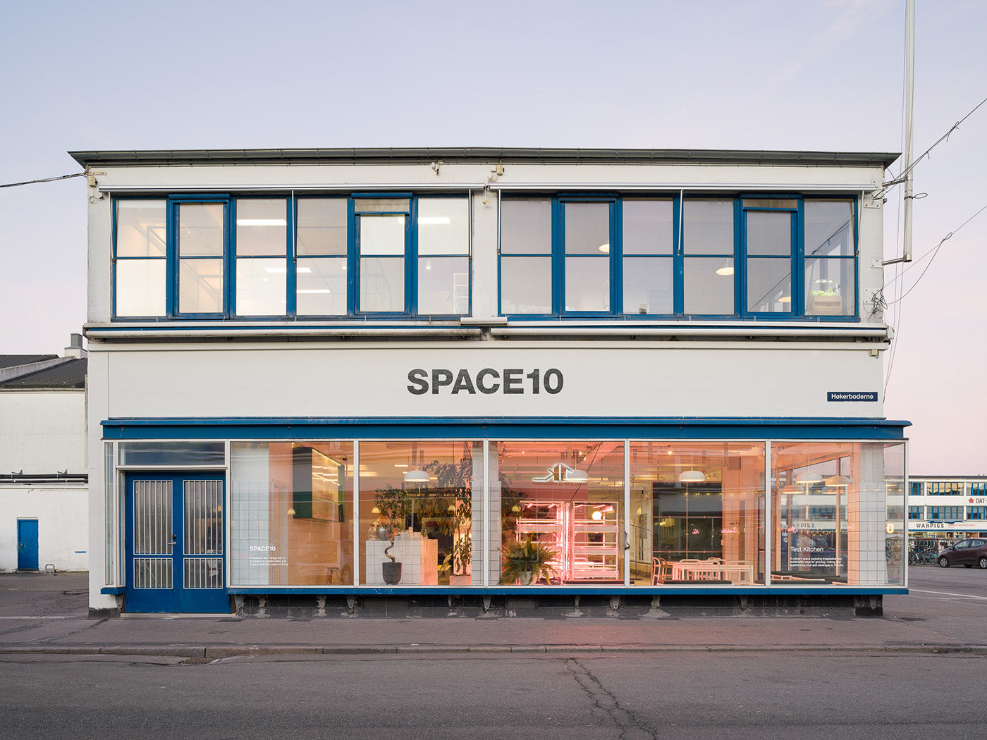 The facade of Space10