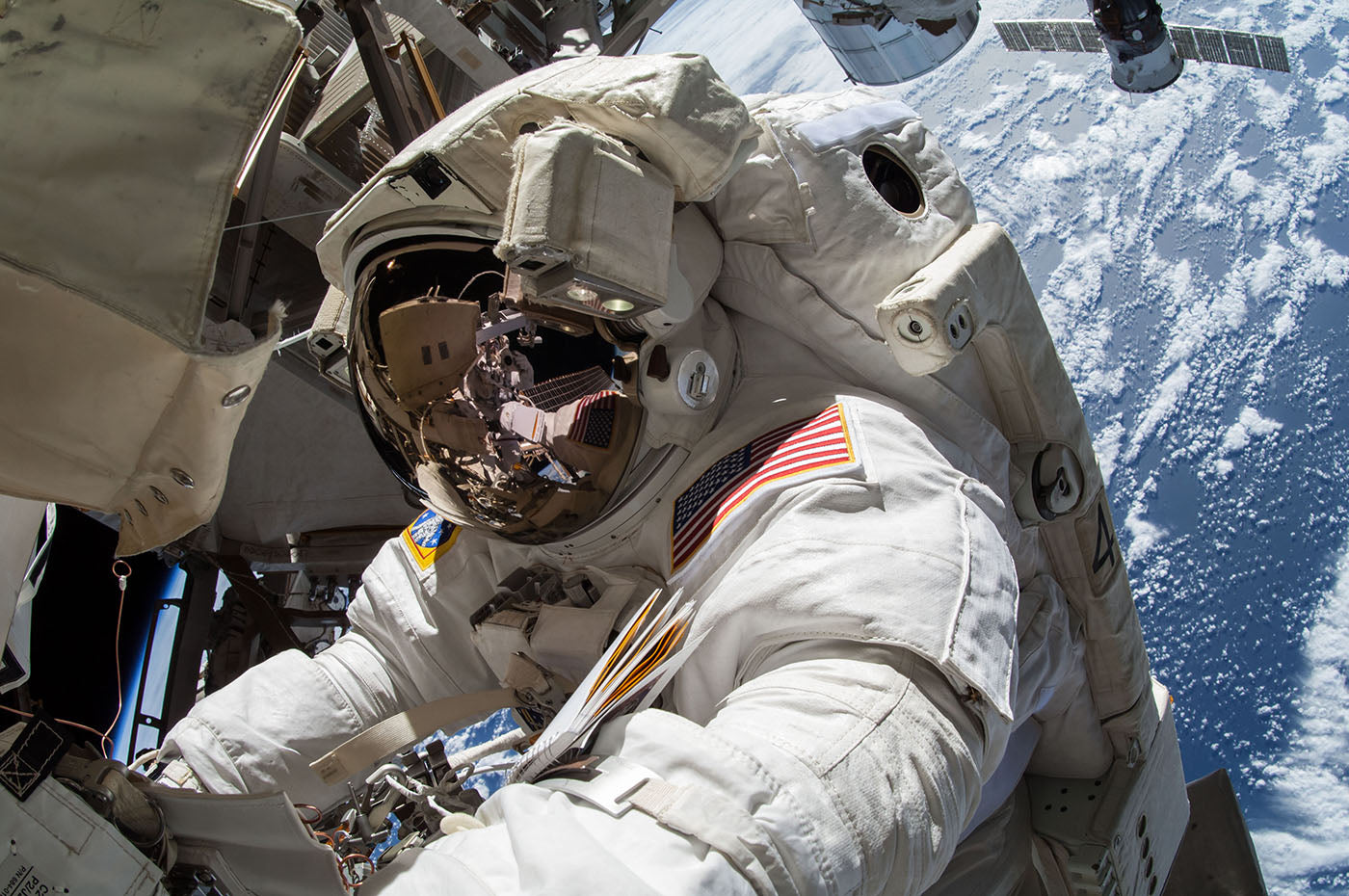 Terry Virts spacewalk. Photo: Terry Virts