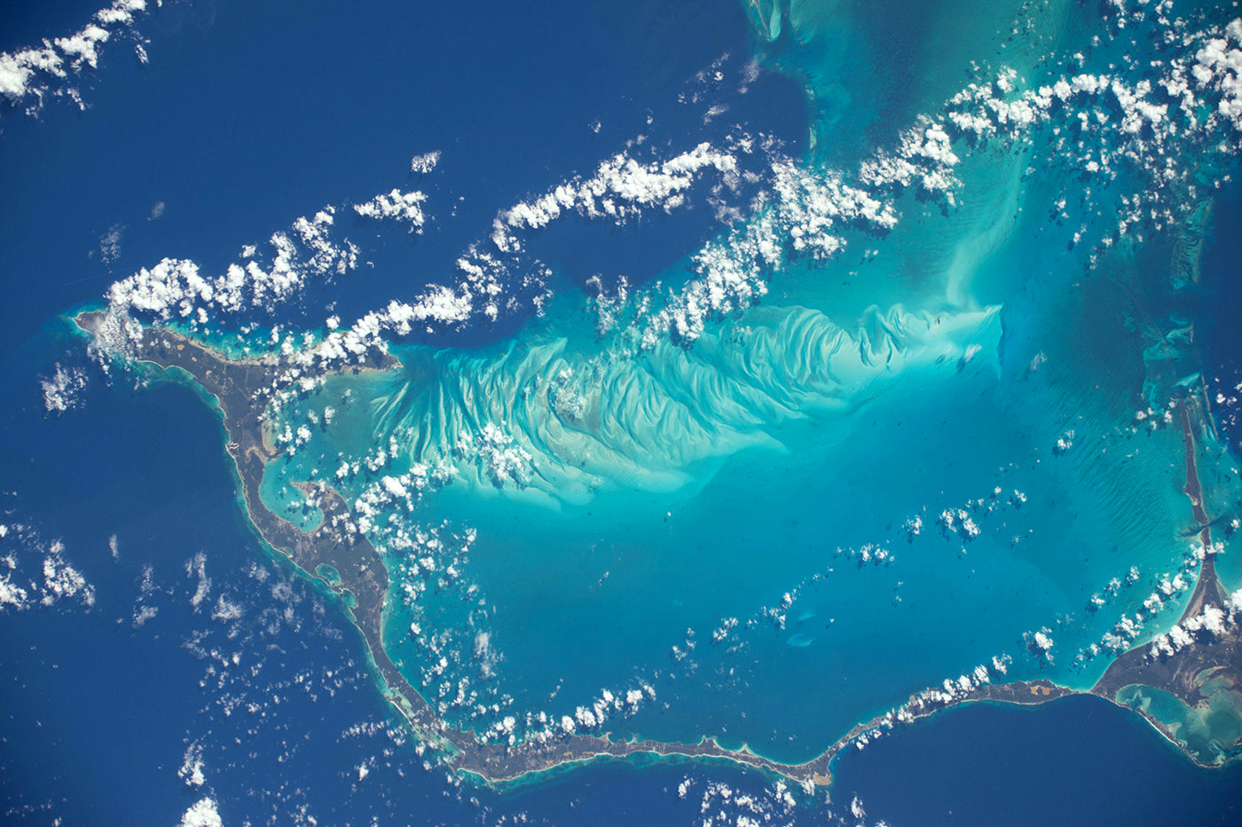 The Bahamas from space. Photo: Terry Virts