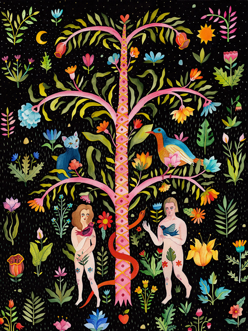 "Illustration called ""Adam & Eve"" by Romanian artist Aitch"