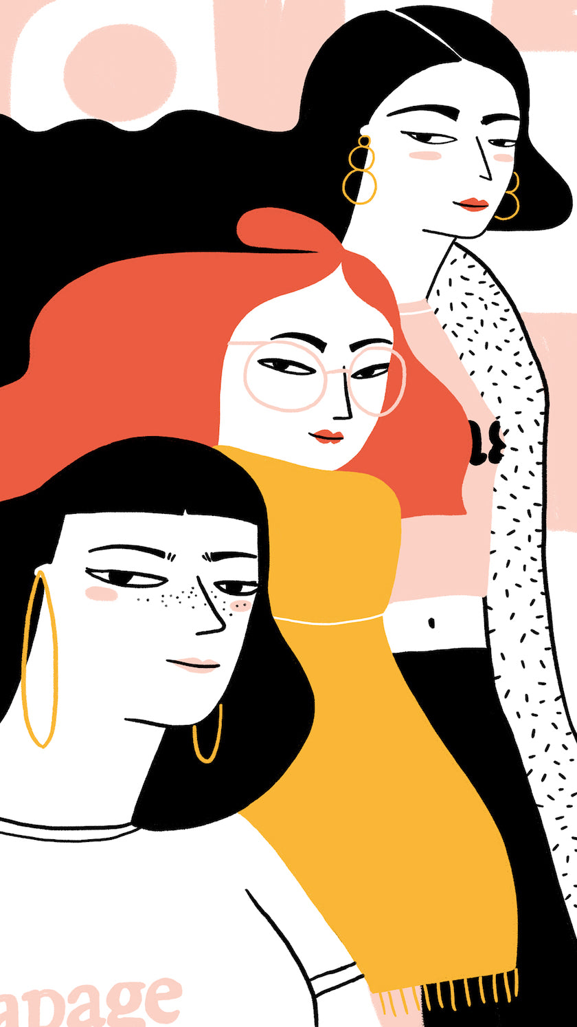 Illustration work from Elda Broglio, a community member of LWD Berlin