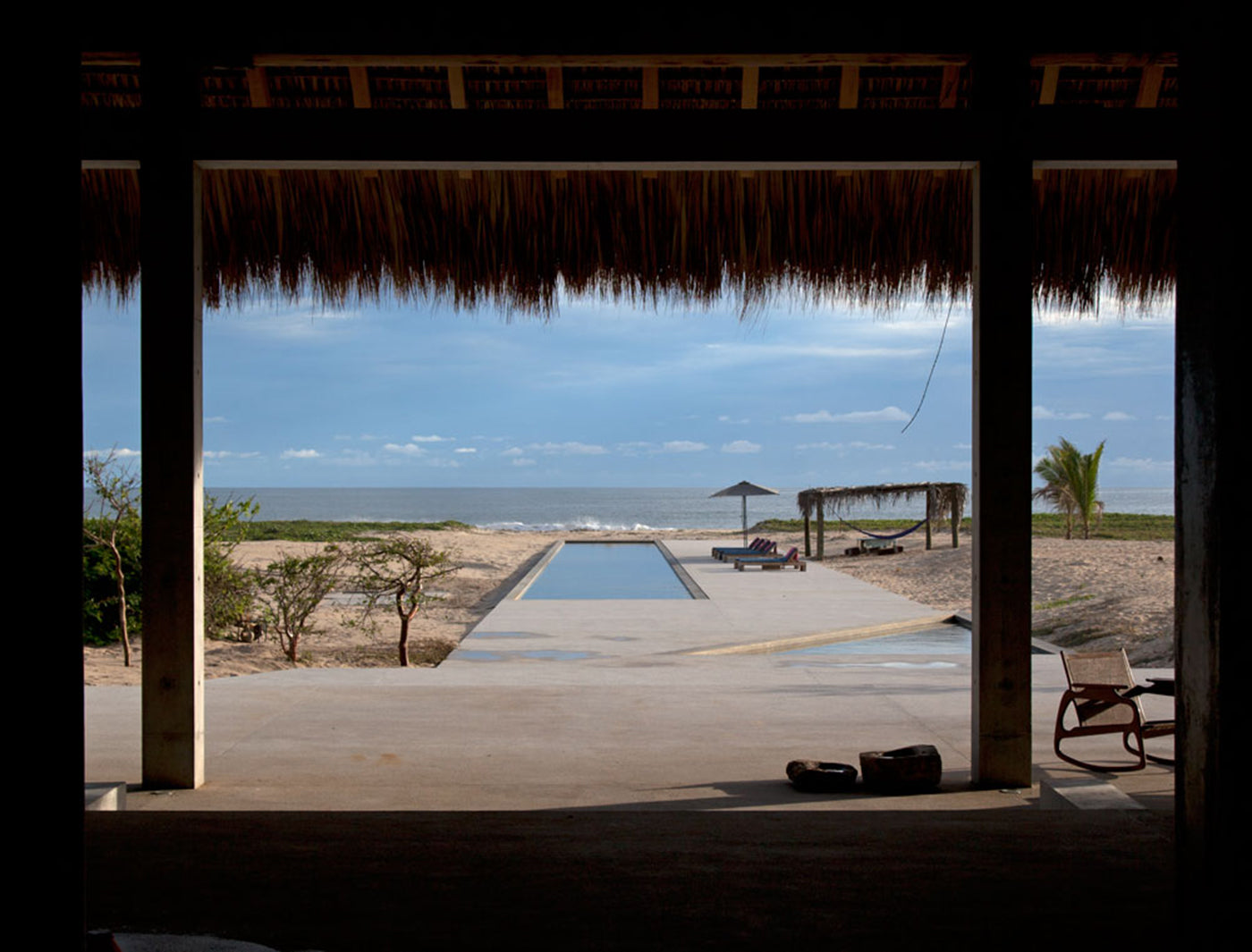 View from Casa Wabi out into the beach landscape. Photo: Fernanda Romandia