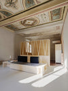 Renovated living room in Renaissance Italian Home