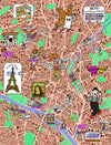 Illustrated map of Paris in A Map of the World