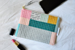 Luxe Patchwork Quilted Pouch 019