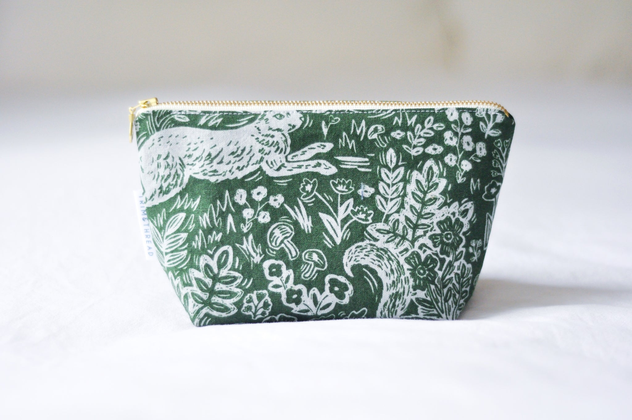 Green Rabbits Cosmetic Pouch