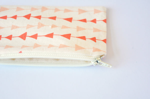 Peachy Arrows Coin Pouch