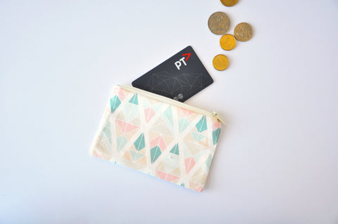 Fragmented Diamonds Coin Pouch