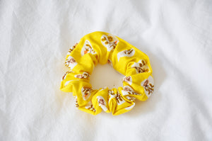 Roses On Yellow Scrunchie