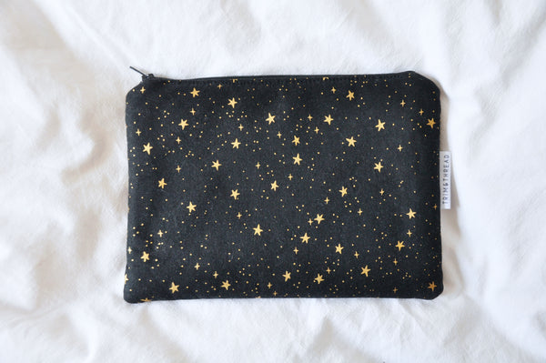 Black & Gold Stars Kindle Pouch