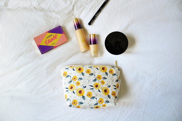 Sunflowers Cosmetic Pouch