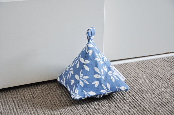 Blue Foliage Door Stop Cover
