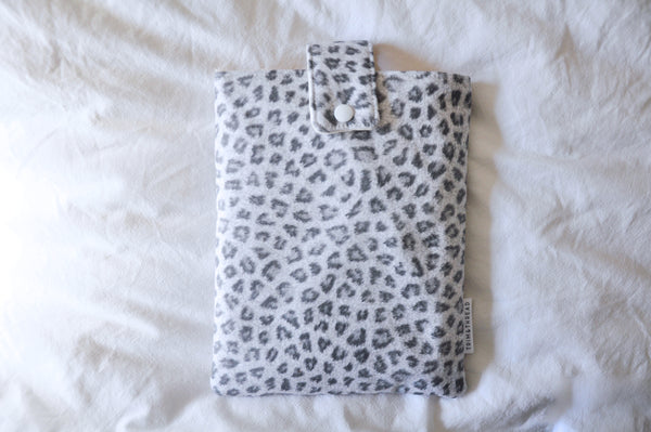 Ghost Leopard Book Sleeve