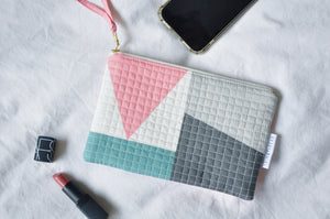 Luxe Patchwork Quilted Pouch 018