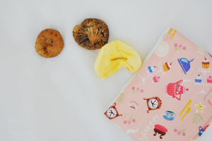Objects In Pink Mini Fold Over Snack Bag