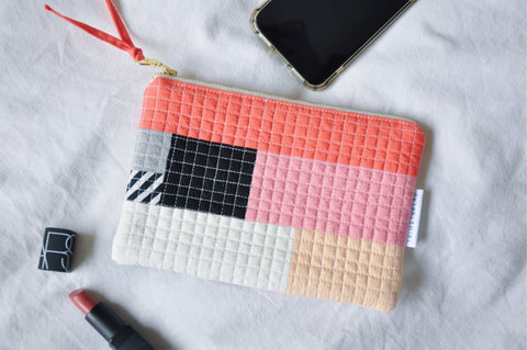 Luxe Patchwork Quilted Pouch 014