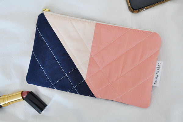Luxe Patchwork Quilted Pouch 024