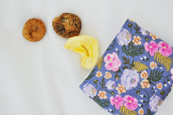 Purple Pansies Mini Fold Over Snack Bag