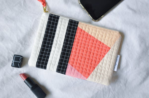 Luxe Patchwork Quilted Pouch 011