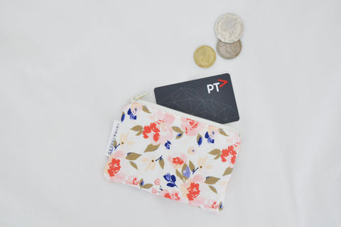 Romantic Peonies Coin Pouch