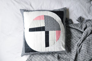 Quilted Cushion Cover 002 - Modern Fans