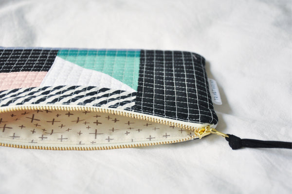 Luxe Patchwork Quilted Pouch 017