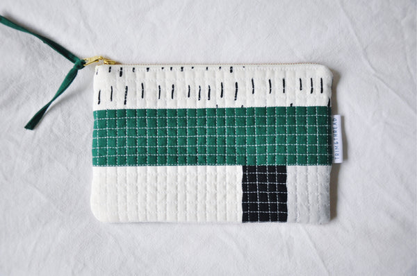 Luxe Patchwork Quilted Pouch 008