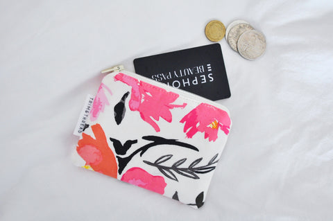 Watercolour Floral Coin Pouch