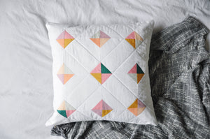 Quilted Cushion Cover 004 - Tiny Tiles