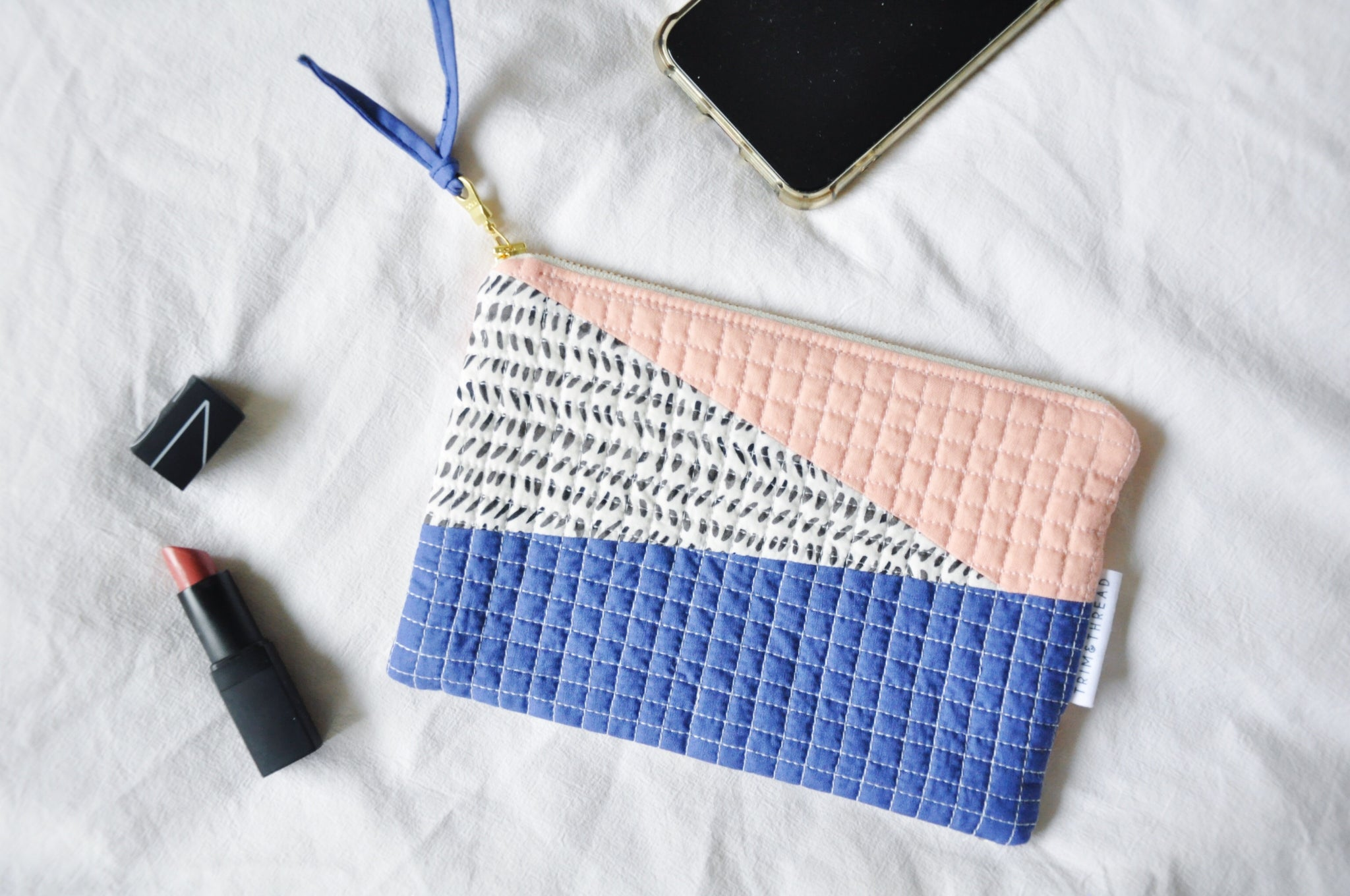Luxe Patchwork Quilted Pouch 002