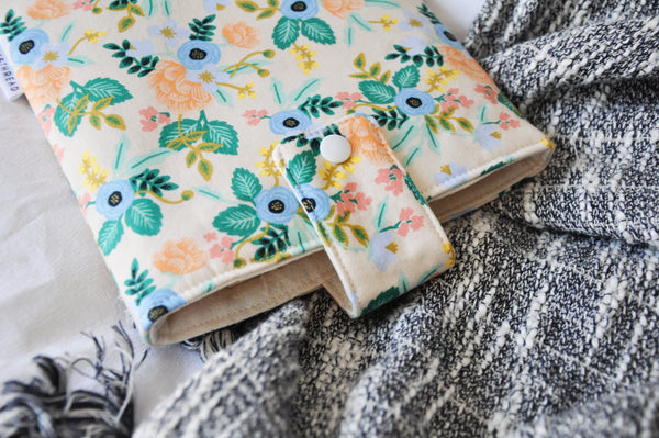 Beige Birch Floral Book Sleeve