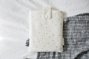 White & Gold Stars Book Sleeve