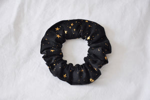 Black & Gold Stars Scrunchie
