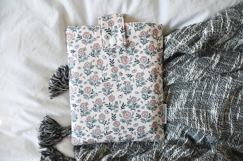 Fairy Pink Floral Book Sleeve