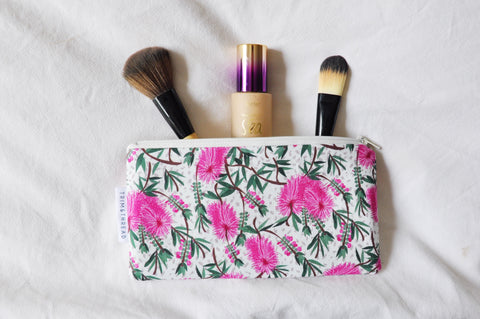 Bottlebrush Zipper Pouch