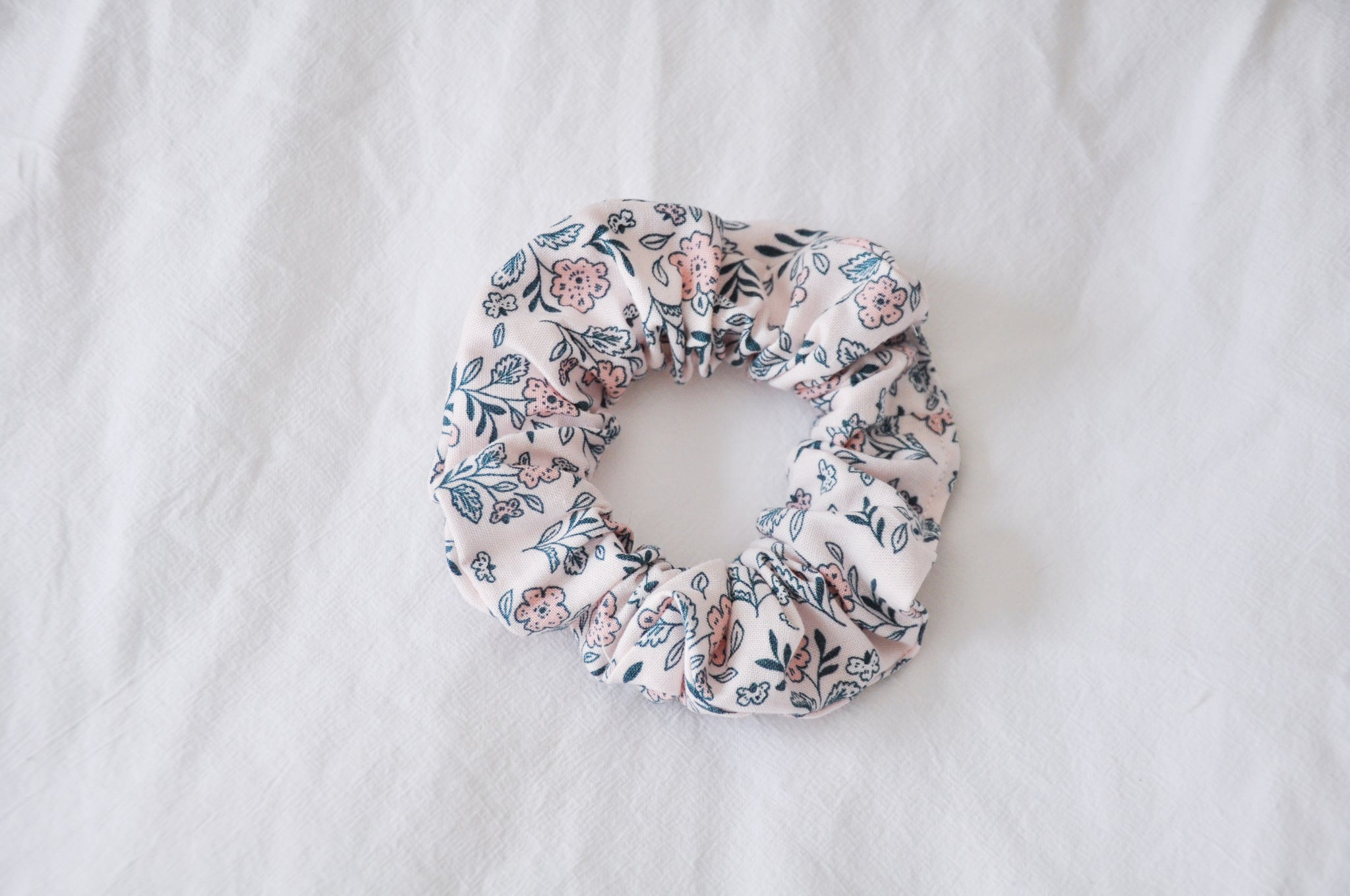 Fairy Pink Floral Scrunchie