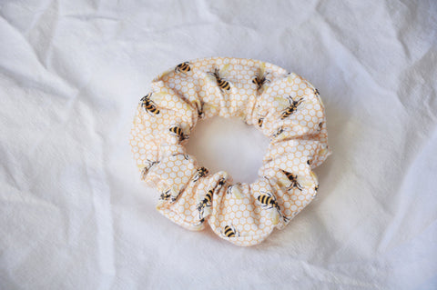 White Bees Scrunchie