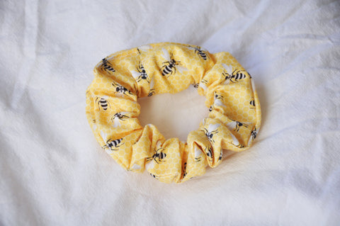 Yellow Bees Scrunchie