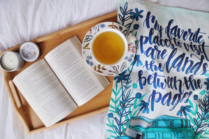 Between The Pages Tea Towel
