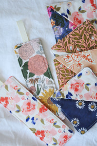 Fabric Bookmarks - 'Floral Study' Edition