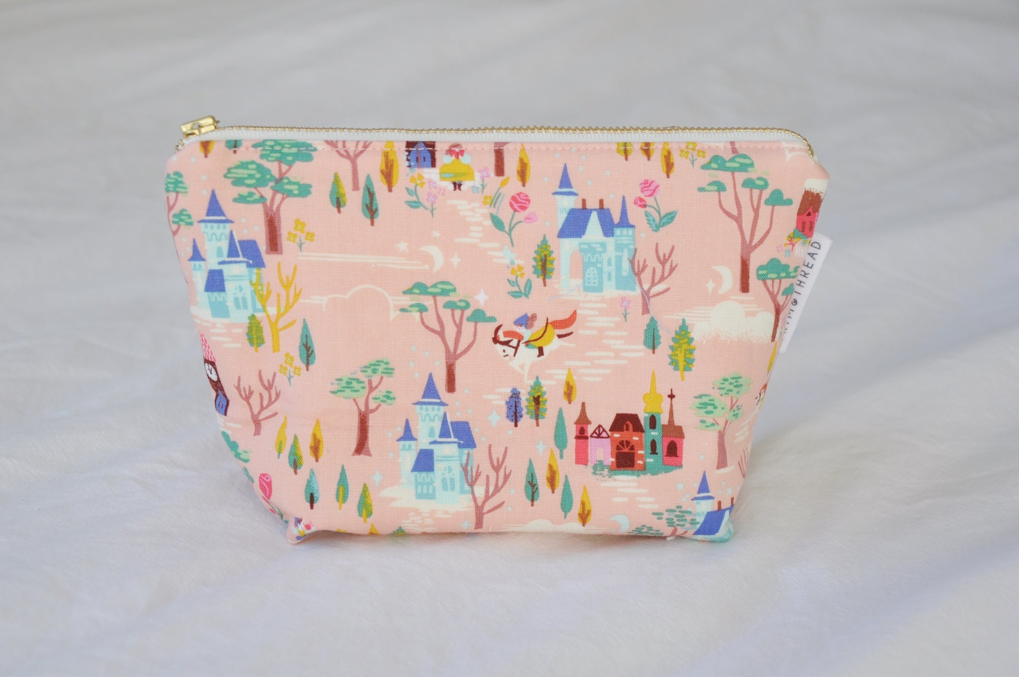 French Countryside Pink Cosmetic Pouch