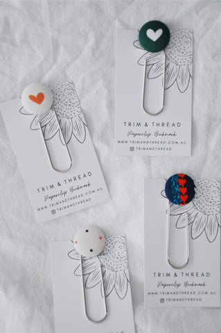 Fabric Bookmarks - Valentine's Day Edition