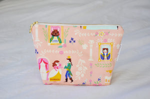 The Beast's Castle Pink Cosmetic Pouch