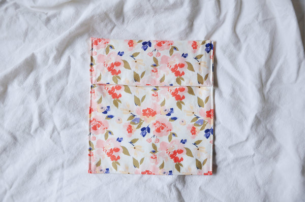 Romantic Peonies Fold Over Snack Bag