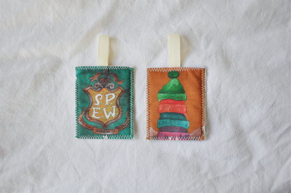 Mini Reversible Fabric Bookmarks - 'School Of Magic' Edition