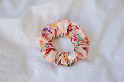 French Countryside Pink Scrunchie