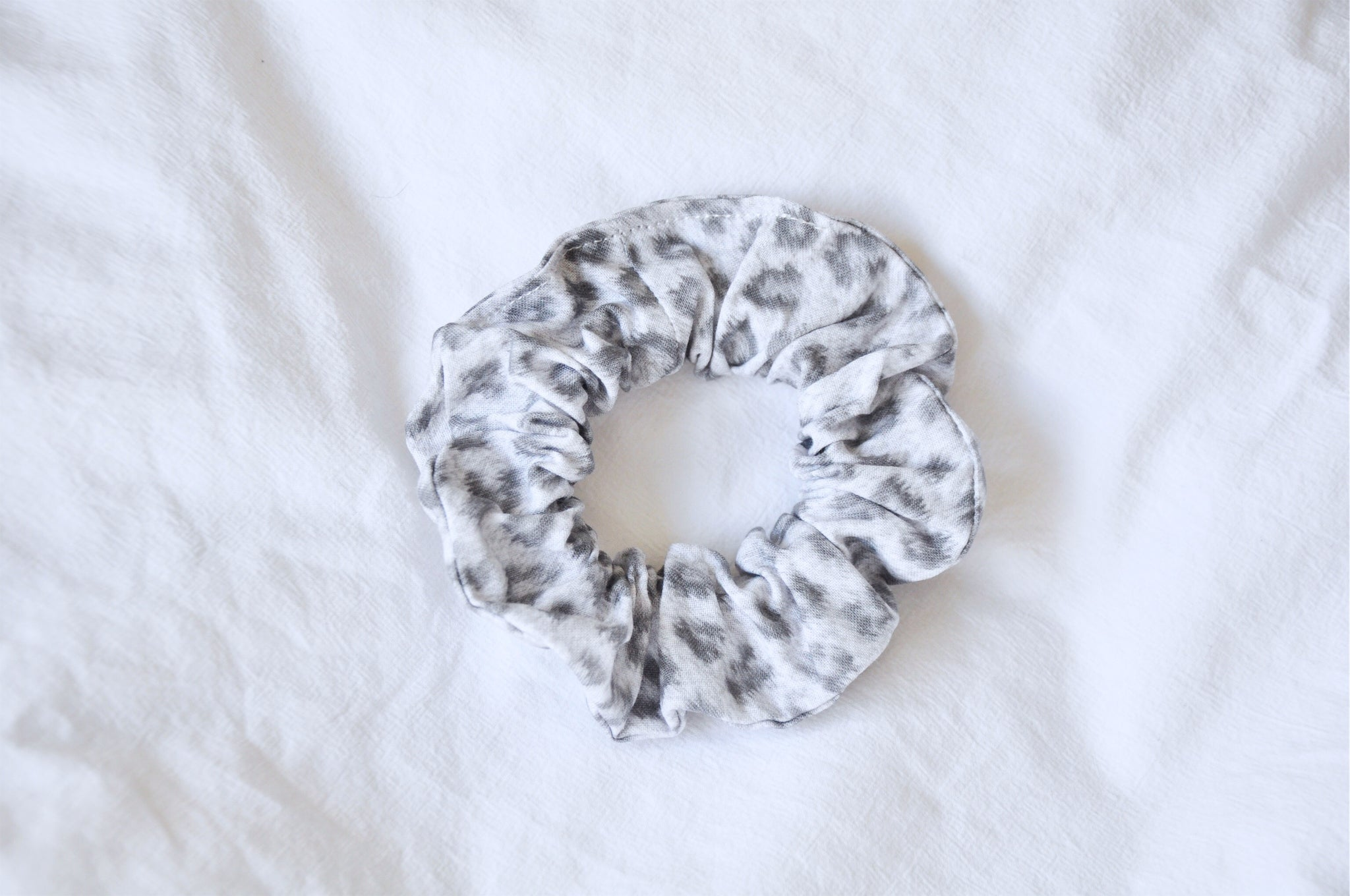 Ghost Leopard Scrunchie