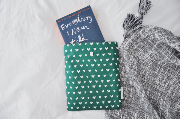 Green Hearts Book Sleeve